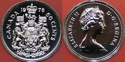 Proof Like 1978 Canada Square Jewels 50 Cents From Mint's Set