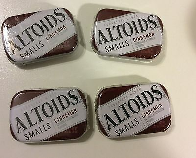 New 4 pack Altoids Smalls Sugar free mints 200 pc Cinnamon Or Peppermint Choose