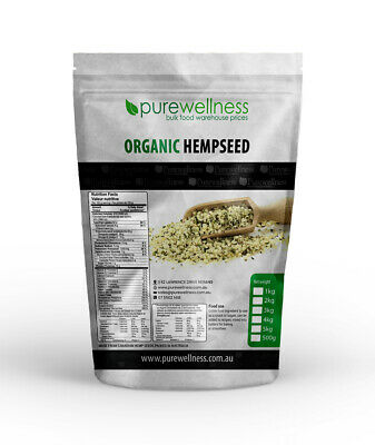 HEMP SEEDS CERTIFIED ORGANIC TOP CANADIAN GROWER 250g,1kg,2kg,4kg,8kg VEGAN