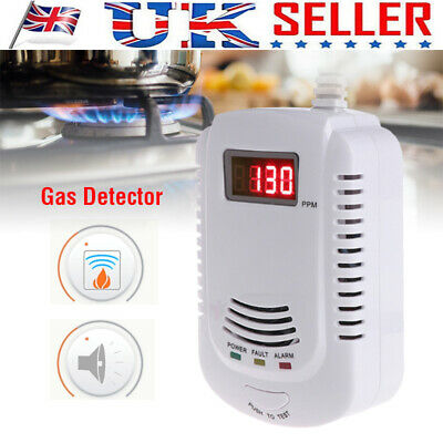 UK Digital Sound Gas Methane Propane Leak Detector Tester Measurer For Home Safe