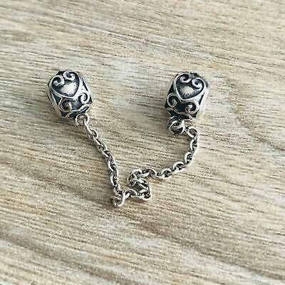 baf60ee9d Genuine Authentic Pandora Silver Enchanted Heart Safety Chain 797036 Charm