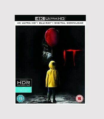 It Blu-ray 4K Ultra HD Horror/Suspense/Thriller Movie