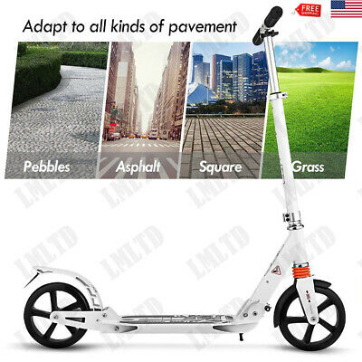 Ancheer Folding Kick Scooter Sport Portable Adjustable Street Kid/ Adult 2 Wheel