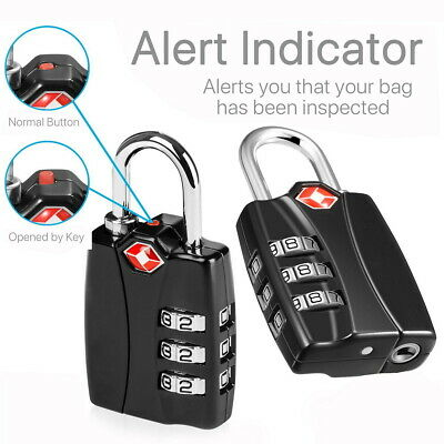 3 Digit Combination Luggage Lock Padlock For Luggage Suitcase Travel TSA Secure