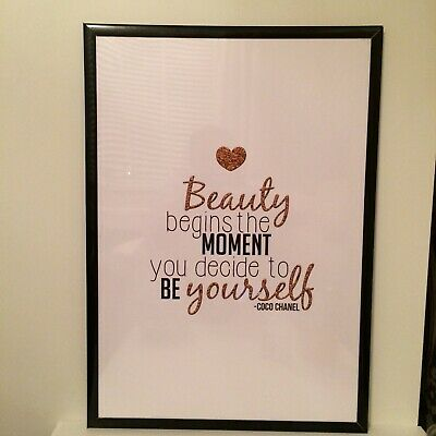 A3 Chanel Inspiring Quote Coco Chanel Print Poster Decor