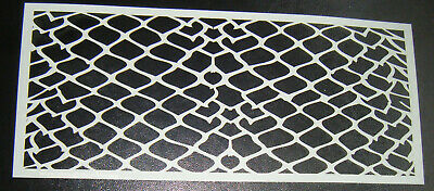 Geometric Pattern  Cake decorating stencil 5 inch Airbrush Mylar Polyester Film