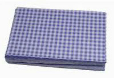 """Duplex Blue Gingham Paper Sheets Size 10x15"""" Food Delicatessen Wrapping 5kgReam"""