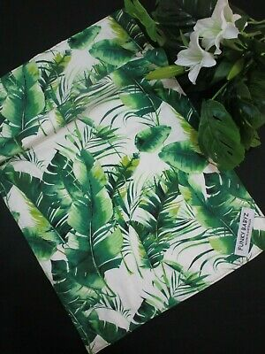 Baby changing mat-Tropical leaves-100% cotton,Perfect for the nappy bag.