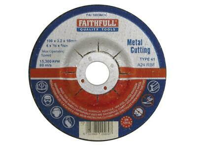 Faithfull FAI1003MDC Depressed Center Metall Cut Off Disc 100 X 3,2 X 16mm