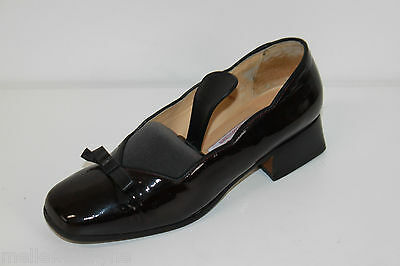 Court Shoes Jeans Thiot all Black Patent Leather T 33 Be