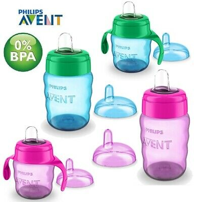 Avent Easy Sip Soft Spout Cup 200ml  Baby Toddler Weaning Drink Beaker BPA FREE