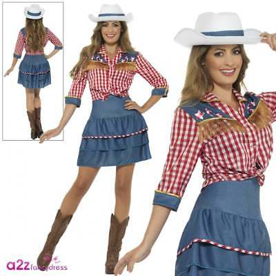 Ladies Rodeo Doll Cowgirl Dolly Parton 80s Western Adult Fancy Dress Costume Hat