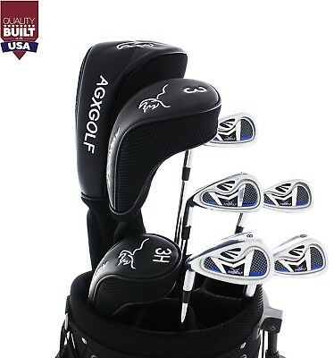 6d5ae9d6f0b3 TALL MENS LEFT HAND EXECUTIVE GOLF CLUB SET wDRIVER, WOOD, HYBRID ...