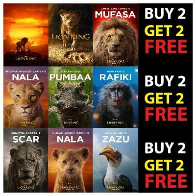 DISNEY'S THE LION KING MOVIE POSTERS A4 A3 300gsm Paper FILM WALL ART DECO