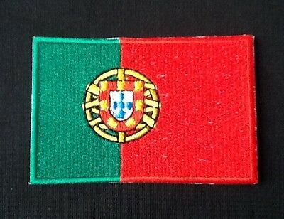 Portugal National Flag Embroidered Patch Iron on Sew On Badge For Clothes etc