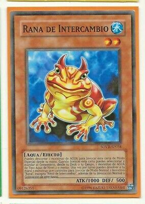 RANA DE INTERCAMBIO SOVR-EN034 Common Spanish YuGiOh SP034 NM Swap Frog