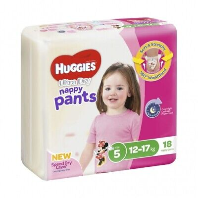 New Huggies Ultradry  Nappy Pants Gender Specific - Disney Designs Girl Size 6,