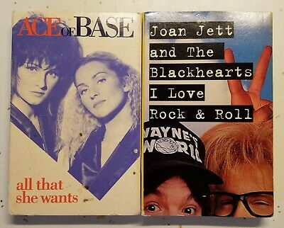 Ace Of Base All That She Wants & Joan Jett I Love Rock & Roll Cassette Tapes