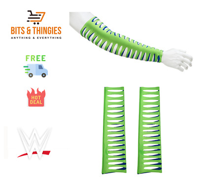 Official Wwe Jeff Hardy Green & Navy Arm Sleeves - Free & Fast Delivery