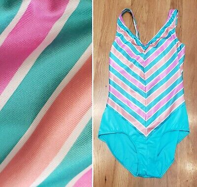 abf698f9b18 Vtg 70s/80s Avon Fashions One Piece Swimsuit Bathing Suit Mint/Coral/Pink