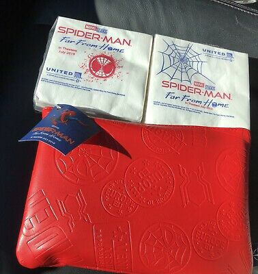 United Airlines Promotional Spider Man Business Class Amenity Kit— Red