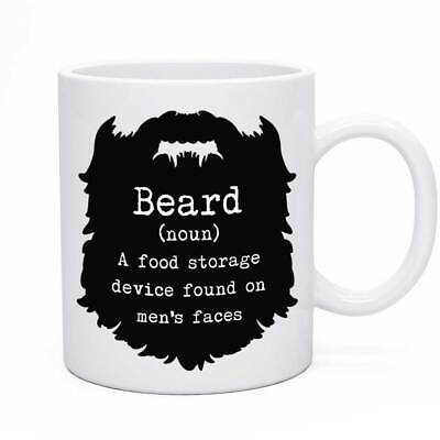 Novelty Beard Mug Funny Birthday Grooming Joke Man Male Dad Present Gift Idea