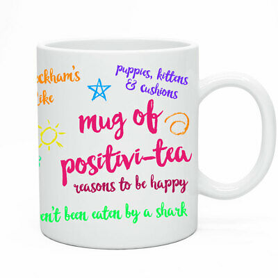 Funny Novelty Mug - The Mug Of Positvi-Tea Joke Gift Preset Drinker Joking Idea