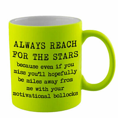 Reach For The Stars Novelty Mug Funny Birthday Gift Present Humour Joke