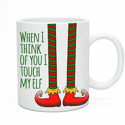 Funny Touch My Elf Novelty Mug  Funny Birthday Gift Present Humour Christmas
