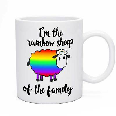 Novelty Joke Mug Rainbow Sheep Funny Birthday Gift Present Humour Idea