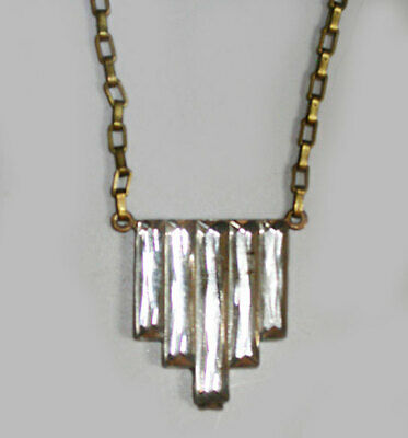 ~ANTIQUE 1920s ART DECO STEPPED Mirrored GLASS NECKLACE!~~