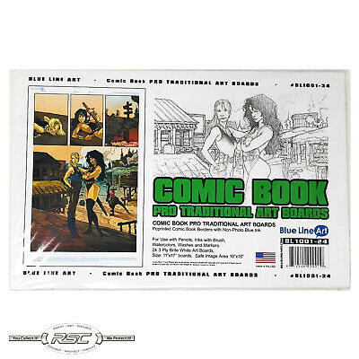 24 - Blue Line Comic Book Smooth Art Boards (Pro Traditional) - New Packaging!