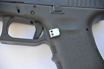 EXTENDED RED MAGAZINE Release catch Fits Glock Gen1 2 3 Aluminum LARGE Frame