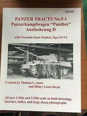Panzer Tracts No.5-1 PzKpfW. Panther Ausf. D - by Thomas L Jentz
