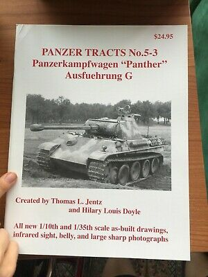 Panzer Tracts No.5-3 PzKpfW. Panther Ausf. G - by Thomas L Jentz