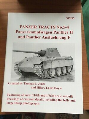 Panzer Tracts No.5-4 PzKpfW. Panther II  + Ausf. F - by Thomas L Jentz