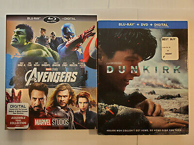 The Avengers + Dunkirk (Blu-ray + DVD + Rare Slip Covers, No Digital)