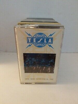 Tesla Five Man Acoustical Jam Cassette Tape
