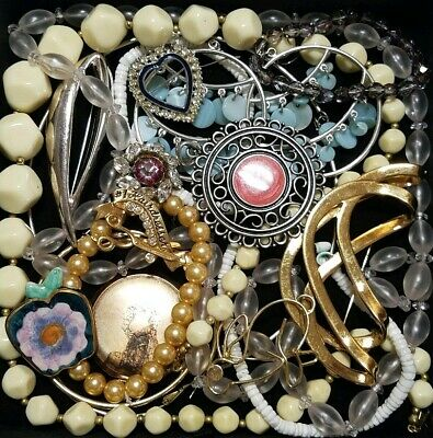Vintage Now Unsearched Untested Junk Drawer Jewelry Lot Estate Find