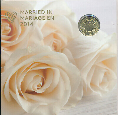 CANADA MARRIED IN 2014 w/ DOVE LOONIE 5 COIN UNCIRCULATED SET