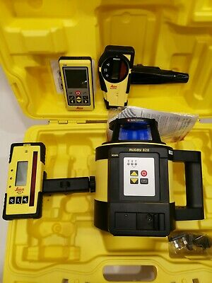 Leica Geosystems lgsr 820RE140 Rugby 820 Rotating Laser and Rod Eye 140 RC800 BA