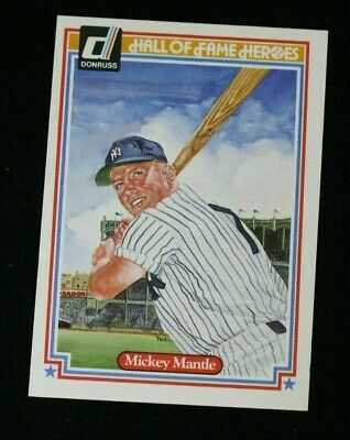 1983 Donruss Hall Of Fame Heroes # 7 Mickey Mantle New York Yankees