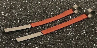 2 Pcs Locksmith 0.2mm X 4mm X 7cm Metal Strip Lock Picking Pick Tool Shim
