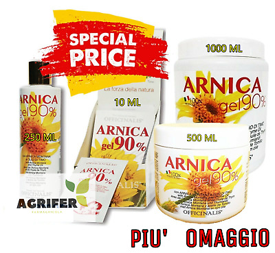 Officinalis ARNICA 90% Gel  250 / 500 / 1000 ml - Distorsioni muscoli e tendini.