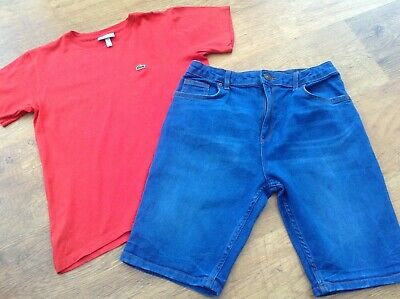 Lacoste River Island Boys Small Summer Bundle/Outfit 11-12Yr Designer Top Shorts