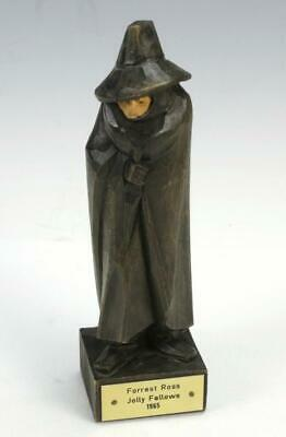 Vintage Carved Wood Wizard Caped Figure Forrest Ross Jolly Fellows 1965 Germany