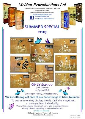 Glass display stands for Swarovski crystal  Summer Special