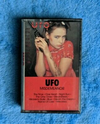 UFO Misdemeanor Cassette Tape 1986 Hard Rock Heavy Metal