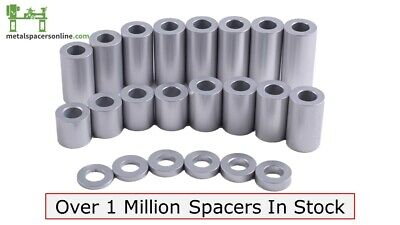 "New Aluminum Spacer Bushing 7/16"" OD x 5/16"" ID--Fits M8 or 5/16"" Bolts"