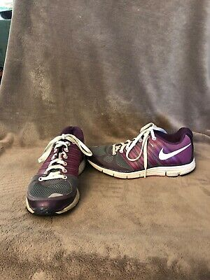 half off 83f64 9502e Womens Nike Lunar Elite 2 Running Shoes 8 Purple Lunarlon Flywire